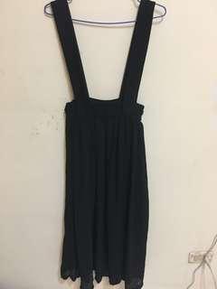 🚚 吊帶雪紡紗裙 黑色