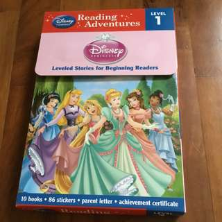 Disney princess readers - set of 10 storybooks