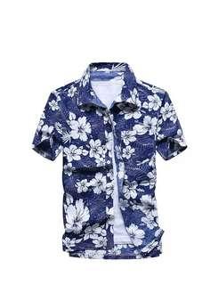 Blue polo shirt for men