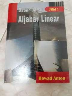 Dasar-Dasar Aljabar Linier karangan Howard Anton jilid 1