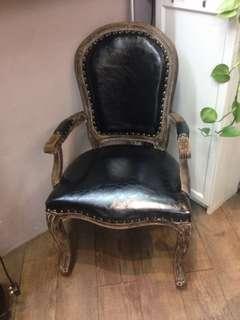 真皮復古椅
