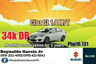 34k DP Suzuki Ciaz Low Downpayment High Discount Call or Text 0995-821-8543 / 0919-202-4955
