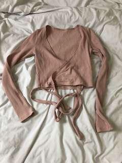Pink wrap top