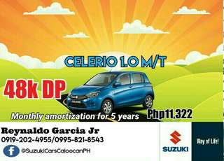 48k DP Suzuki Celerio Low Downpayment High Discount Call or Text 0995-821-8543 / 0919-202-4955