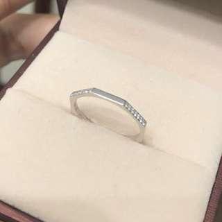 18K 八邊形 鑽石 戒指