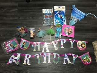 Frozen themed party items