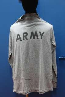 全新美軍軍發真品灰色體能訓練反光長袖T恤 US ARMY Long Physical Training Tee 一件