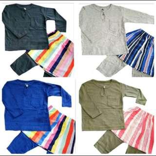 Set baju melayu sampin budak baju raya budak lelaki
