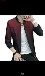 Men Coat Slim Fit Gradient Color Collar Jacket Men Jackets