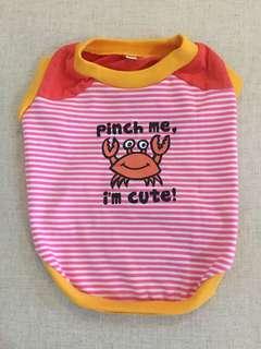 """Pinch me"" Dog/ Puppy T-shirt - Size 4"