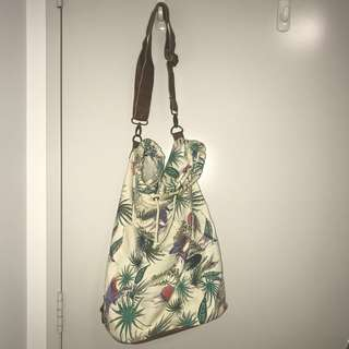 Floral safari bucket bag