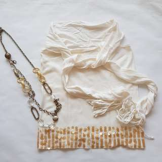 GG5 Tube Top (With Detachable Scarf)