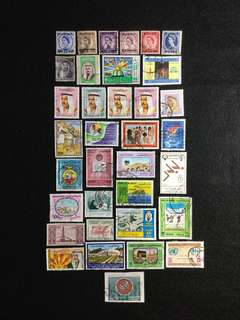 Kuwait 35 Different Used Stamps