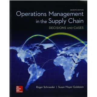 Operations Management in the Supply Chain 7th Edition