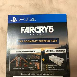 Far Cry 5 PS4 Doomsday Prepper Pack