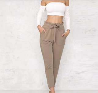 High Waist Harem Style String Woman's Pants