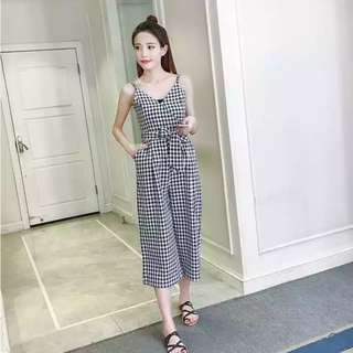 PO: 👗Evangeline Checkered Jumpsuit / Romper