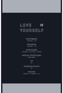 WTS BTS LOVE YOURSELF TEAR ALBUM WITHOUT PC