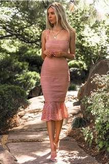 Sndys- Poppy Dress- Salmon- Size 8