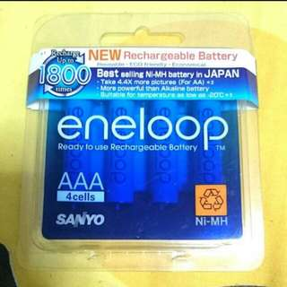 🚚 Sanyo Eneloop Rechargeable Battery 4 Cells