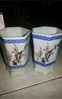 Keramik Unik Vintages Sakura Flowers Made in China