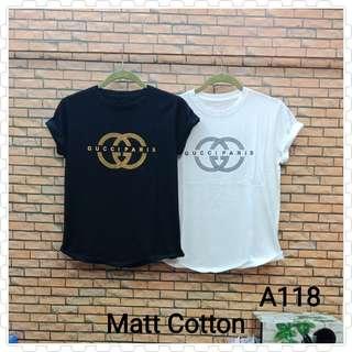Kaos wanita murah/Tumblr Tee/T-Shirt/Supplier Kaos Wanita/Kaos Distro Gucci Paris A118