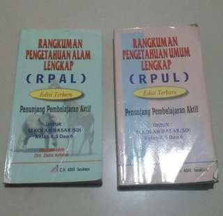 Buku RPAL dan RPUL untuk SD Kelas 4, 5, 6 (2 Items)