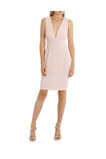 L/A collective- Rouched Bodycon Dress- Pink- Size 10