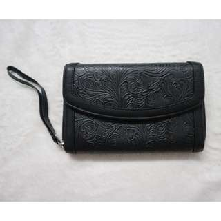 Beautiful Textured Black Wallet