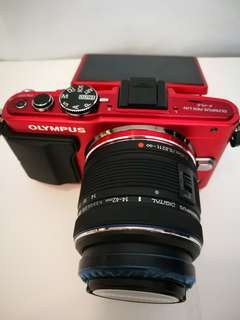 Olympus E-PL6 with 14-42mm kit red color