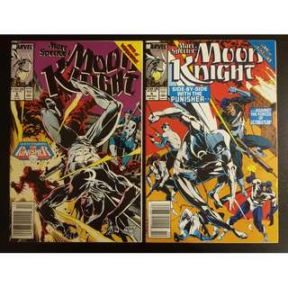 Moon Knight #8 & #9 (1990) Set of 2 Books (Guest-starring The PUNISHER!)