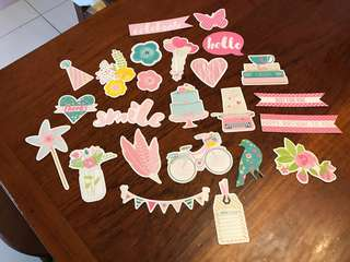 Multiple tags and cut outs for scrapbook & crafts