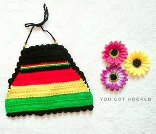 Rastafarian Crochet Halter top