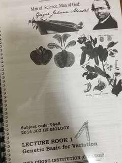 A LEVEL Hwa Chong Bio notes