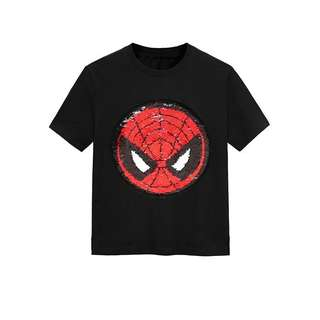 Preorder kids / adult top sequins change between spiderman and captain america