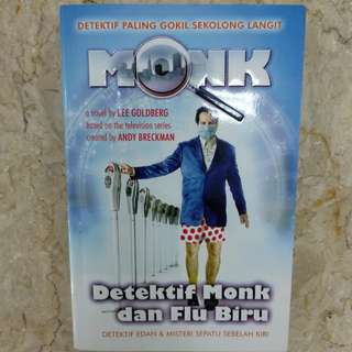 Buku Novel Detektif Monk dan Flu Biru (PRELOVED)