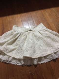 Liz lisa cream lace skirt