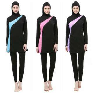 Muslim Lady Two Piece Swimming Suit