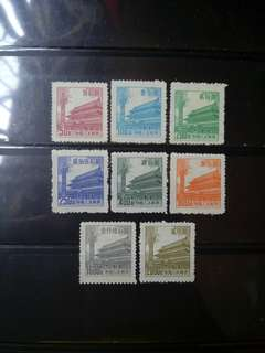 [lapyip1230] 新中國 1954年 普7 天安門 新票全套 Set Mint