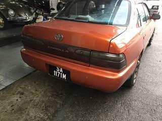 Toyota 1.6 manual 1996