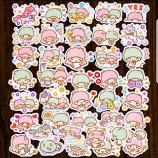 40pcs Cartoon Sticker - Little Twin Star