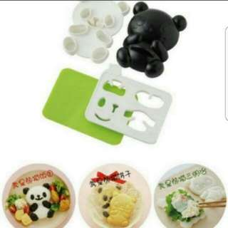 3 in 1 panda bread + rice + cookie  Mould