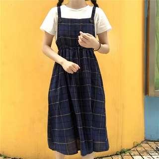 High waist strap dress