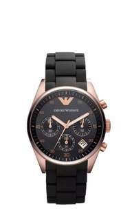 Emporio Armani Black and Gold women