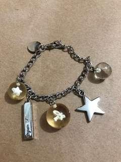 日本Agnes b Bracelet 星星波波手鏈 / 手鍊