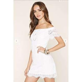 Forever 21 Lace Off The Shoulder Dress