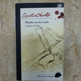 Buku Novel Agatha Christie - Murder on the Links (Lapangan Golf Maut) PRELOVED