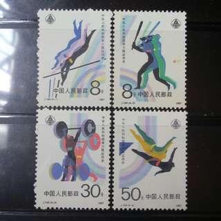 [lapyip1230] 新中國 1987年 J144 第六屆全運會 新票全套 Set MNH