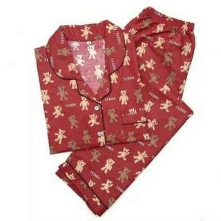 GROSIR Pajamas Katun Jepang CP Teddy Bear