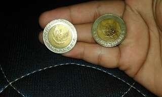 Koin logam 1000 kepala sawit tahun 1996 dan 2000